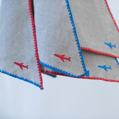 triangle blue plane